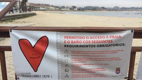 Playa de Panxón, cerrada para evitar que se hagan hogueras