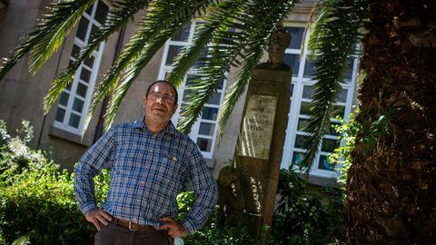 Alberto Saco, en el colegio Curros Enríquez, donde fue alumno
