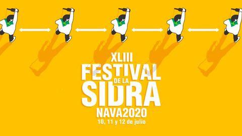 Cartel del XLIII Festival de la Sidra de Nava 2020, que se celebrará, principalmente, de manera telemática