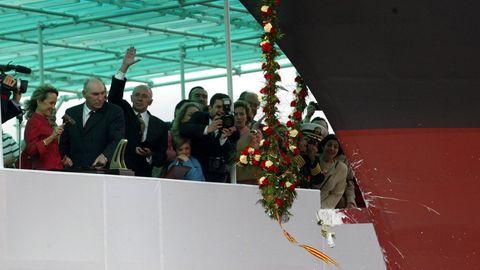 Imagen del año 2003, durante la botadura de la fragata Blas de Lezo en la entonces Izar