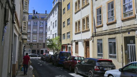 Barrio de A Milagrosa, donde un grupo de cinco personas entró a robar en una casa