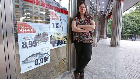 La asturiana Elena González lleva diez años afincada en Pontevedra