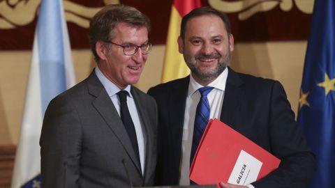 Feijoo y Ábalos, en un encuentro que tuvieron en octubre del 2018