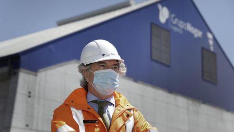 José Luis López-Bachiller, consejero del Grupo Nogar en el puerto exterior de A Coruña