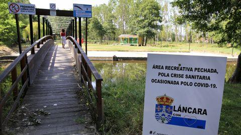 Láncara ha cerrado su área fluvial por el coronavirus