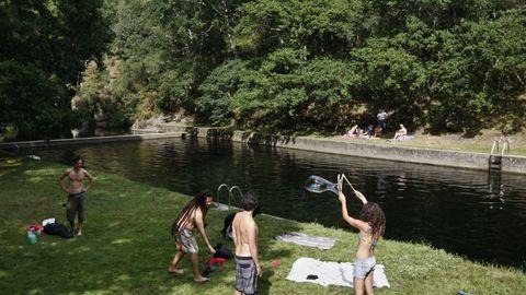 Sete Muiños, en Guitiriz, es un remanso de paz donde disfrutar de un buen baño