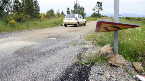 Un tramo del vial que da acceso al pazo de Tor, en una fotografía de archivo