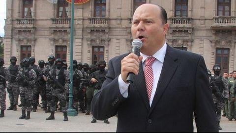 César Duarte, durante su acto de despedida como gobernador de Chihuahua, el 4 de octubre del 2016