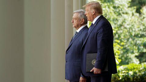Andrés Manuel López Obrador y Donald Trump, el miércoles, en la Casa Blanca