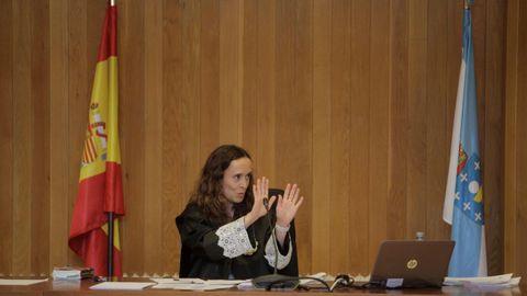 VISTO PARA SENTENCIA. La magistrada Marta Canales tiene que decidir sobre la propiedad del pazo de Meirás. Ayer, jueves, puso fin al histórico juicio que se celebró esta semana en A Coruña