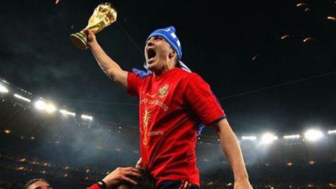 David Villa celebra el Mundial de Sudáfrica