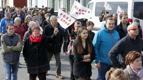Imagen de archivo de una protesta contra okupas en un barrio de Lugo