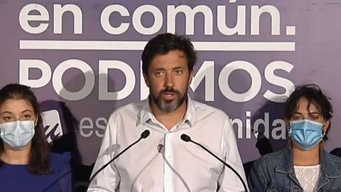 Gómez-Reino, durante su comparecencia tras la derrota en las elecciones gallegas