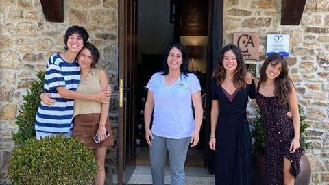Macarena Garcia, Ana Castillo, Claudia Hernandez y Gemma Galán en Ribadesella