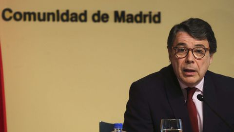 Ignacio González cuando todavía era presidente de la Comunidad de Madrid en el 2015