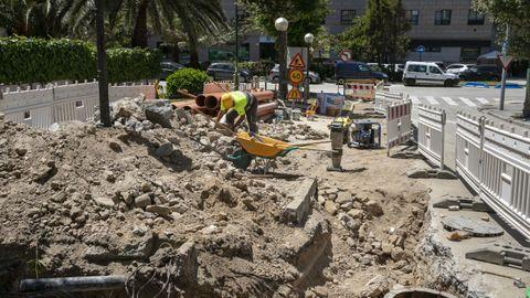Situación de las obras en la calle Victoria Fernández España