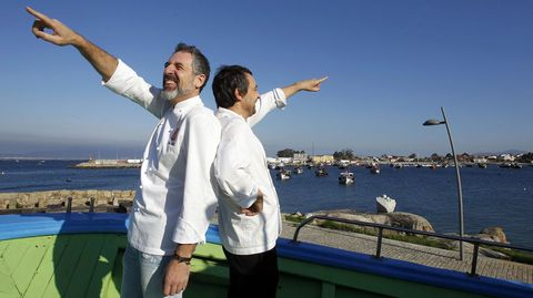 Pepe Solla de Casa Solla y Javier Olleros de Culler de Pau