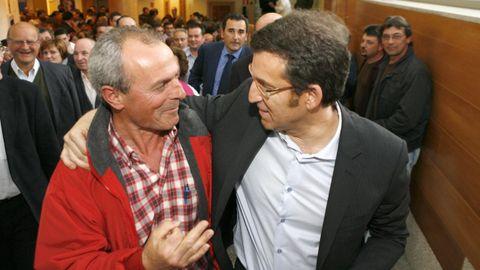 La imagen que Toñito guarda junto a Feijoo, en el 2009
