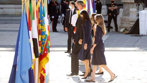 La familia real en el homenaje a las víctimas del covid-19