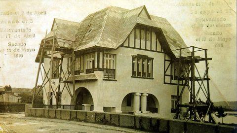 Imagen de Casa Carnicero, en Perillo, en 1916