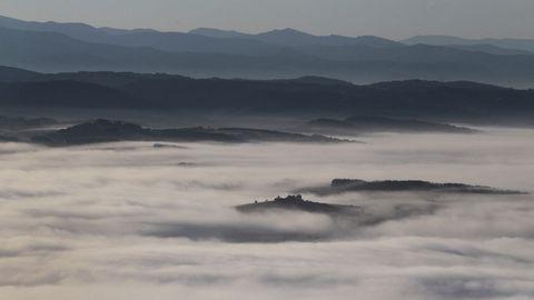 La niebla impidió en esta ocasión sobrevolar la zona ribereña