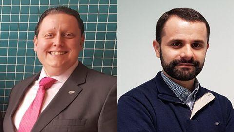 Os investigadores do Centro de Investigación TIC (CITIC) da UDC Marcos Ortega e Jorge Novo