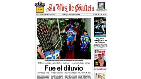 Primera de La Voz de Galicia del 25 de junio de 1995