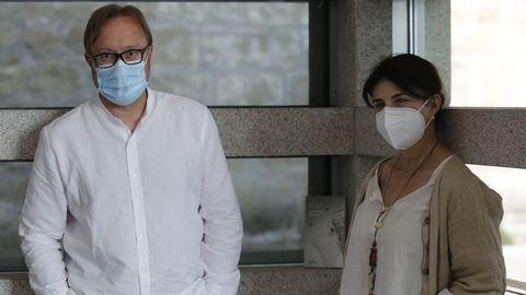 Baldo Ramos e Eva Veiga, na Fundación Seoane