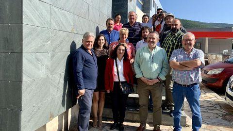 Acto de clausura del anterior taller de empleo de la comarca de Quiroga, que funcionó durante el año pasado