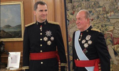 Don Juan Carlos y Felipe VI en una imagen del 2014
