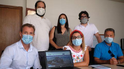 Edelmiro Justo, Jorge Parada, Lola Gómez, Ana Barreiro, Lisardo Vilar y Ramón Doval