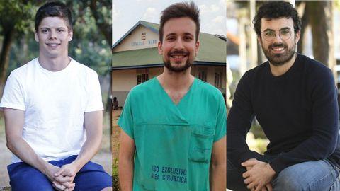 De izquierda a derecha,  Mauro Trincado,  Daniel Gómez y Pablo Nogueira