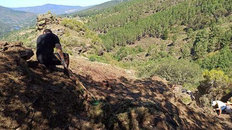 O castro de Penadominga estivo practicamente cuberto de vexetación durante as últimas décadas