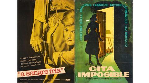 Carteles de «A sangre fría» (1959) y «Cita imposible» (1958)
