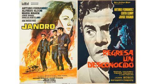 Carteles de «Jandro» (1964) y «Regresa un desconocido» (1961)