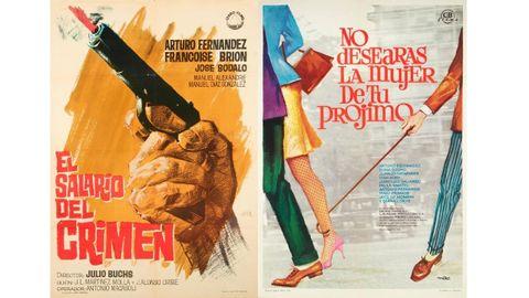 Carteles de «El salario del crimen» (1964) y «No desearás la mujer de tu prójimo» (1968)