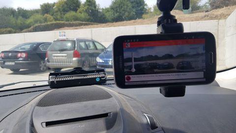 Dispositivo de identificación de matrículas de la Policía Local de Ares