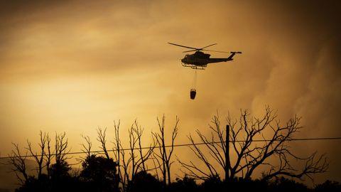 Imagen del incendio forestal de Cualedro, que comenzó el miércoles