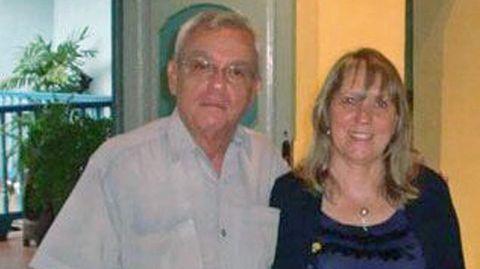 La presidenta de Afalu, con el fallecido Eusebio Leal Spengler