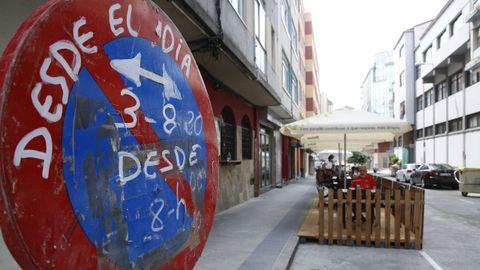 Imagen de archivo de la calle Monte das Moas peatonal