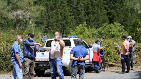 Decenas de vecinos se sumaron a la batida para buscar a Álvaro Pin