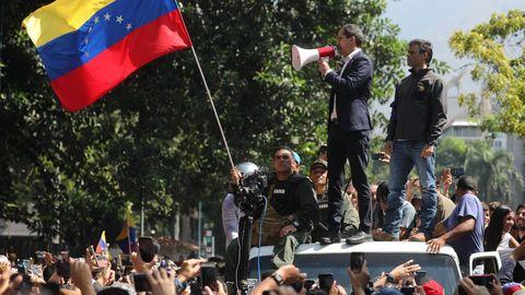 El presidente de la Asamblea Nacional, Juan Guaidó, y el líder opositor Leopoldo López, en una imagen de archivo