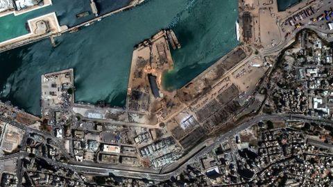 Vista aérea de la zona de la explosión