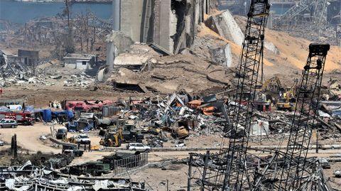 Imagen general de la zona de la explosión