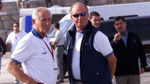 El empresario Josep Cusí con el rey emérito
