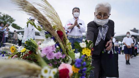 Este jueves se celebró un homenaje en Hiroshima en honor a las victimas de esta localidad y Nagasaki, por el 75 aniversario del lanzamiento de bombas de EE.UU. que arrasaron ambas ciudades