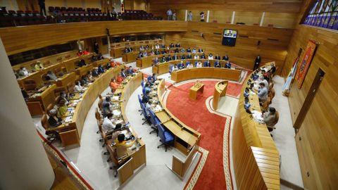 La Cámara de O Hórreo se pone a andar bajo el influjo de la mayoría absoluta más amplia del Partido Popular.