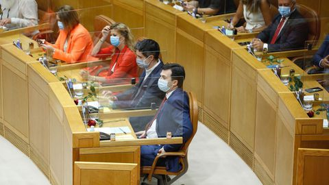 El líder del PSdeG en su escaño