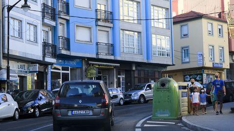 La N-547, a su paso por el casco urbano palense