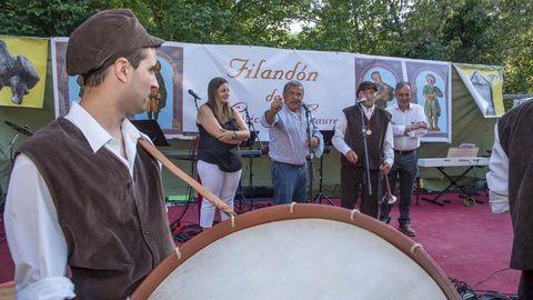 Un momento da anterior edición do Filandón de Músicas do Courel, celebrado en agosto do 2019